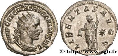 Antoniniano de Treboniano Galo. LIBERTAS AVGG. Libertad a izq. Roma 4488430.m