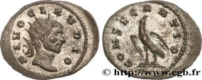 Radiado póstumo de Claudio II. CONSECRATIO. Águila 4488434.m