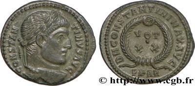 AE3 híbrido. Anverso de Constantino II y reverso de Constantino I. Arles. 464351.m