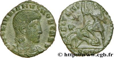AE3/4 de Juliano II. FEL TEMP REPARATIO. Soldado romano alanceando a jinete caído. 532286.m