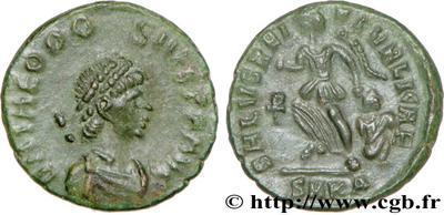 Imitativa de AE4 de Teodosio I. SALVS REI PVBLICAE 532310.m