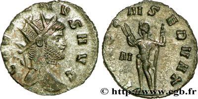 Antoniniano de Galieno. IOVI CONSERVAT. Júpiter a izq. Roma 608769.m