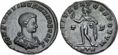 Nummus de Constantino II. CLARITAS REIPVBLICAE. Trier 919016.m