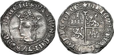 Moneda de Enrique IV año 1454-1475 1 real de plata Toledo 1684130.m