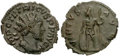 Antoniniano imitativo bárbaro de Tétrico I. VIRTVS AVG 35680.m