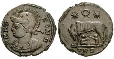 AE4 Conmemorativa de Roma. VRBS ROMA 37047.m