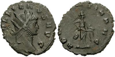 Antoniniano de Galieno. ABVNDANTIA AVG. Roma 37064.m
