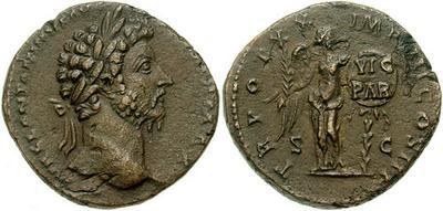 Sestercio de Marco Aurelio. TR POT XX IMP IIII COS III /S C. Victoria 131499.m