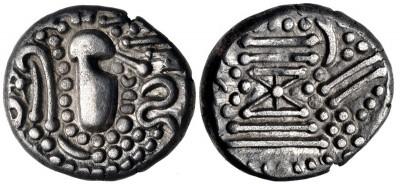 Dracma hindú Post-Gupta (Chaulukya-Paramara). siglo X - XI d C. 3308470.m