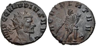 Antoniniano de Claudio II. PROVIDENT AVG. Roma 3316841.m