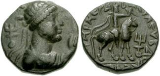 Tetradracma khusan de Vima Takto (Soter Megas). 182757.m
