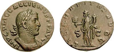 Sestercio de Galieno. LIBERALITAS AVGG. Roma 206916.m
