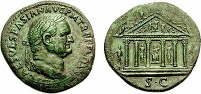 Glosario de monedas romanas. HEXÁSTILO, templo. 235266.m