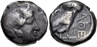 atenas - Mesopotamia, Tetradracma del Satrapa Mazakes. 331-320 a.C. Imitando los Tetradracmas de Atenas 4112616.m