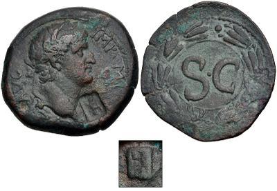 AE22 de Galba. SC. Antioquía (Resello de Atenea) 5649931.m