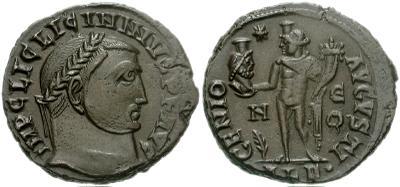 Nummus/Follis de Licinio I - IOVI CONSERVATORI AVGG - Alejandria 388139.m