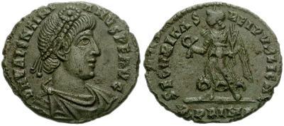 AE3 de Valentiniano I. SECVRITAS REI PVBLICAE.  Roma 399517.m