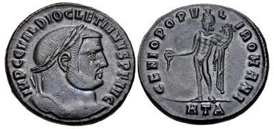Nummus de Diocleciano. GENIO POPVLI ROMANI. Heraclea 6652852.m