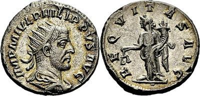 Antoniniano de Filipo I. AEQVITAS AVG.  Roma  1733183.m