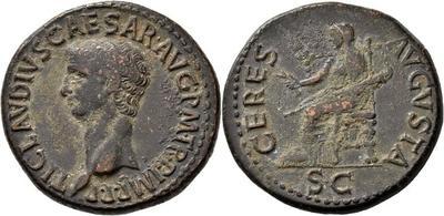 Dupondio de Claudio I. DIVA AVGVSTA. Livia sentada a izq. Roma 3434330.m