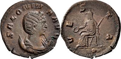 Antoniniano híbrido de Galieno. VESTA. Roma 4238344.m