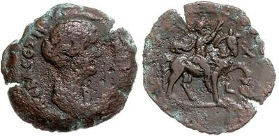 Dracma de Faustina II. Emperador a caballo. Alexandria 1143475.m