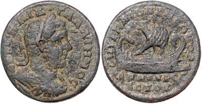 Rarísimo medallon de Caracalla. Galera. Iona. Smyrna 2212956.m