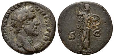As de Antonino Pío. Minerva. Roma 6259030.m