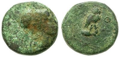 Bronce de Atenas (Atenea - Mochuelo sobre ánfora) / 195-190 a.C. 14837.m