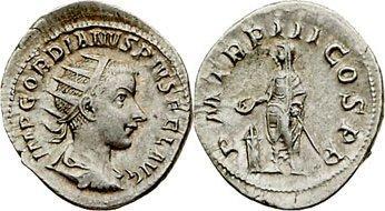 Antoniniano de Gordiano III. P M TR P III COS P P. Roma 1396847.m