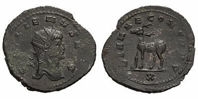 Antoniniano de Galieno. DIANAE CONS AVG. ¿Gacela? a izq. Roma 1830477.m
