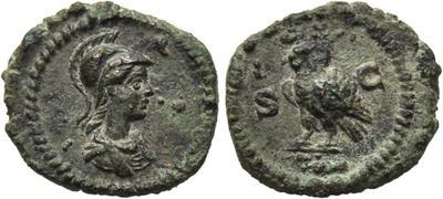 Cuadrante anónimo acuñado entre Domiciano a Antonino Pío. S C. Búho 1739538.m