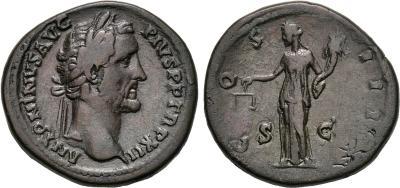 Sertercio de Antonino Pío. COS III. Igualdad a izq. Roma 1781708.m