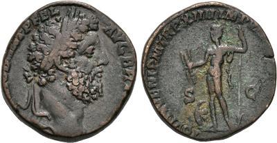 Sestercio de Cómodo. MART PACAT P M TR P XIIII IMP VIII COS V ....... Marte estante a izq. Roma. 1781753.m
