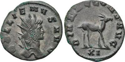 Antoniniano de Galieno. DIANAE CONS AVG. Roma 2008819.m