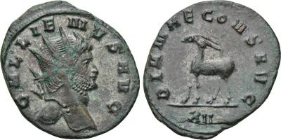 Antoniniano de Galieno. DIANAE CONS AVG. ¿Gacela? a izq. Roma 2008820.m