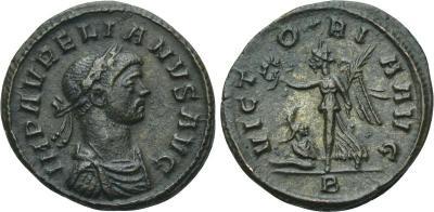 AE Denario de Aureliano. VICTORIA AVG. Roma  2337860.m