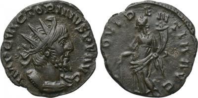 Antoniniano de Victorino. PROVIDENTIA AVG. Providentia a izq. Colonia. 3182460.m