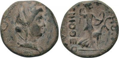AE18 de Akmoneia (Frigia)  AKMONE / TIMOΘEOY MENEΛA. 3206336.m
