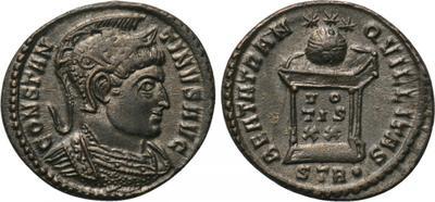 AE3 de Constantino I. BEATA TRANQVILLITAS. Trier 3207013.m