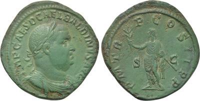 Sestercio de Balbino. P M TR P COS II  P P. Emperador a izq. Roma 3828401.m