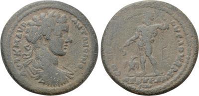 Assarion de Caracalla. ЄΠI AΠOΛΛOΦIANOVC ΛOV AP A / ANKVPANΩΝ. Ancyra (Frigia) 5867331.m