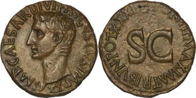 As de Augusto. M SALVIVS OTHO III VIR A A A F F - S C. Roma. 1070009.m