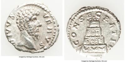 Denario de Lucio Vero. CONSECRATIO. Roma 7447438.m
