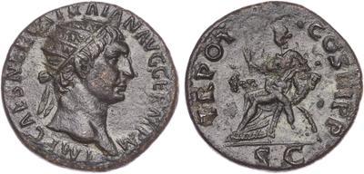 Dupondio de Trajano. TR POT COS III(I) P P / S C. 1523470.m