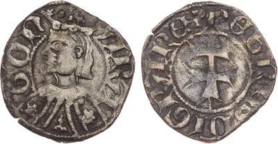 Dinero de Pedro IV de Aragón 1633749.m