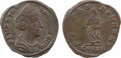 AE4 de Teodora. PIETAS ROMANA. Constantinopla 1889264.m
