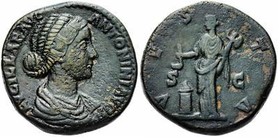 Sestercio de Lucila. VESTA. Vesta a izq. Roma 1165622.m