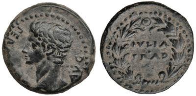 As de Iulia Traducta, tiempos de Augusto. IVLIA TRAD dentro de corona. 1624231.m