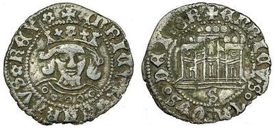 Medio Cuarto (1/8 de real) de Enrique IV. Sevilla 4027650.m